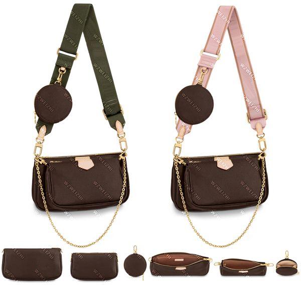 best selling Real leather Fashion handbags Shoulder Bags Multi pochette accessoires purses Women Favorite Mini 3pcs accessories crossbody bag