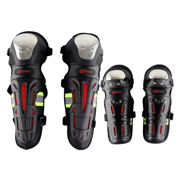 top popular Cyclegear K18H18 Auto Racing Knee Shin Elbow Guards Pads Braces Protector Off Road ATV MX Armor Safety Protective Gear 2021