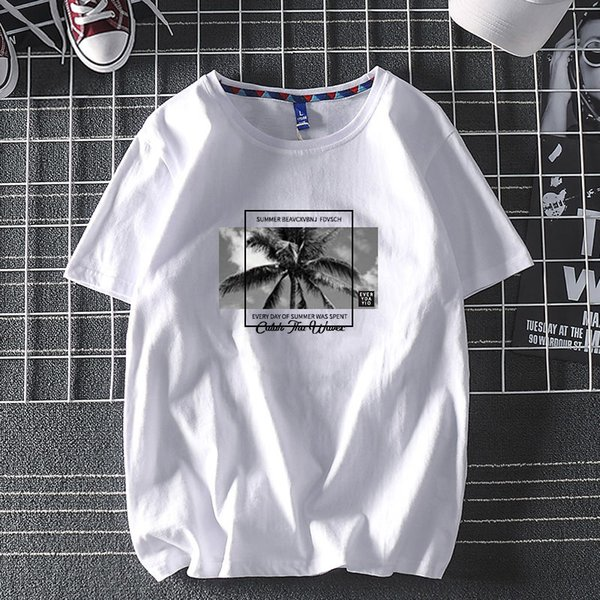 best selling 2021 Fashion Men's Women's t shirt S-3XL High Quality Cotton Short Sleeve Loose Trend Boy Half Simple Letters