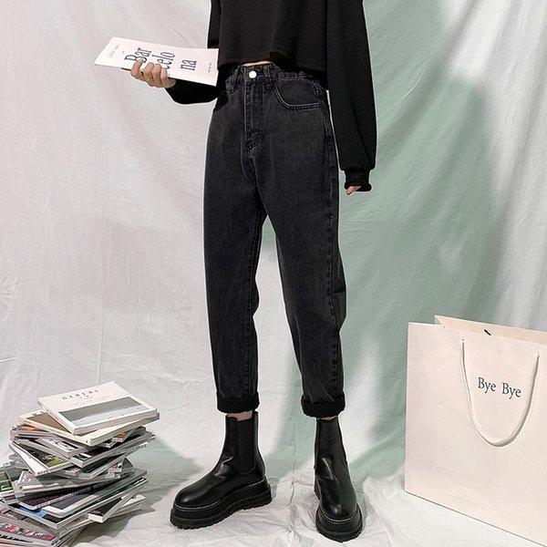 GUUZYUVIZ High Waisted Jeans Woman Mom Loose Harem Pants Denim Plus Size Jeans Trousers Women Blue Grey Pantalones Vaqueros