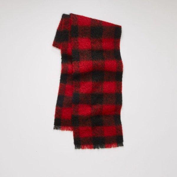 Black And Red Lattice-35x210cm