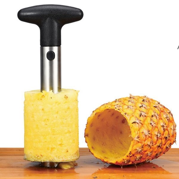 top popular Fruit Tools Stainless Steel Pineapple Peeler Cutter Slicer Corer Peel Core Knife Gadget Kitchen Supplies sea shipping NHB6241 2021
