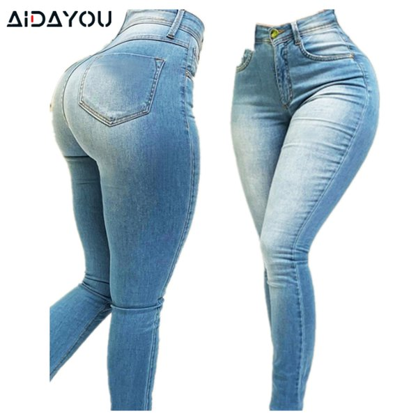 Womens Stretchy High Waisted Jeans Big Butt Hips Jean Denim Pants Pull Up Elastic er Good Stretch Elastic Jean ouc292a