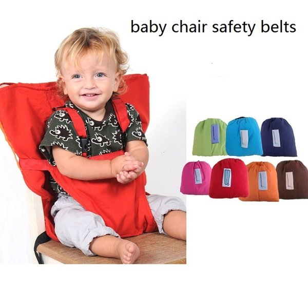 top popular Baby Portable Seat safety belts Foldable Washable kids Infant Dining Lunch Harness Feeding Chair cover seat 2021