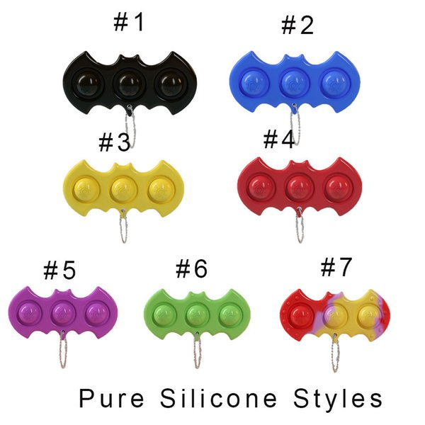 top popular Push Bubble Keychain Toys Stress Reliever Fidget Pop Simple Dimple Key Holder Ring Sensory Squeeze Finger Novel Bubble Game Pendants Board Decompression Toy 2021