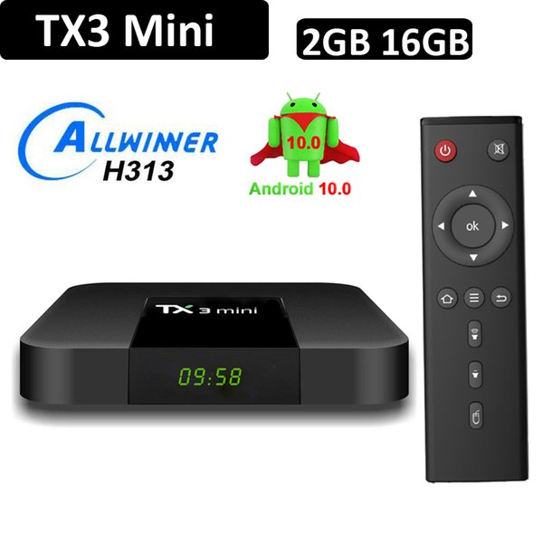 top popular Android 10 OTT TV Box Tx3 Mini Allwinner H313 Quad Core 1G 8G 2GB 16GB 4K Smart Streaming Media Player 2021