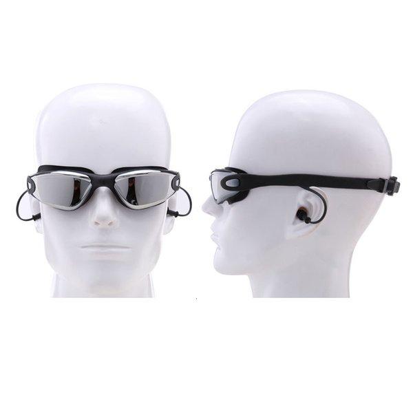 top popular Myopia Swimming Goggles Earplug Men Women Prescription Professional Adult Swim Eyewear Waterproof Optical Diving Glasses 2021