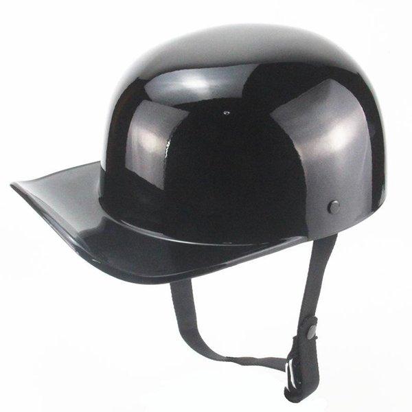 top popular Vintage Bandit Gang Baseball Cap Motorcycle Helmet Duck Peaked Half Casco Demoto Helmets 2021