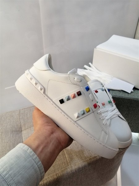 Top Quality Mens Womens Leather Casual Shoes Lace Up Comfort Pretty shoes Men's Trainers Daily Lifestyle Skateboarding Shoes Size 35-45