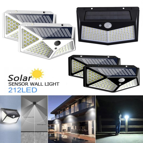 best selling 212 bead solar lamp intelligent light control system dynamic human body induction for outdoor and garden