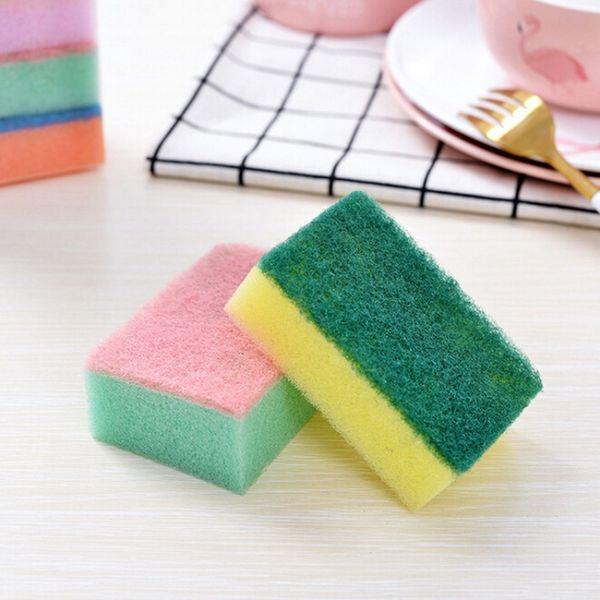 5/10 Pcs Household Dishwashing Sponge Magic Wipe Dish Sponge Washing Towels Rags Brush Microfiber Kichen Dish Cleaning Cloth