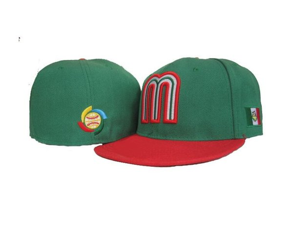 best selling Mexico National Team Fitted Teams Hats Snapback Soccer Baseball Caps Football Hat Hip Hop Sports Fashion