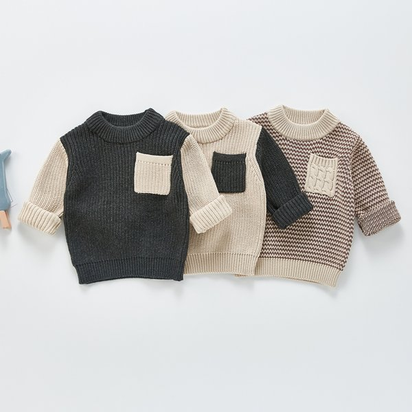 best selling ZHBB Baby Kids Pullover Autumn Winter Girl Boy Knitted Sweater Casual Tops Warm Clothes