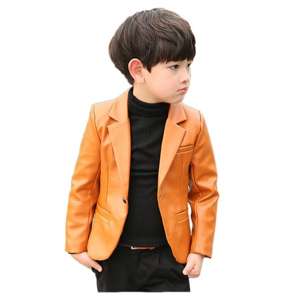best selling Coat Boy Kids Jacket Children Fashion Style Classic Solid For 2-10years Boys Leather Gentleman Jacket Clothing Bdlsl