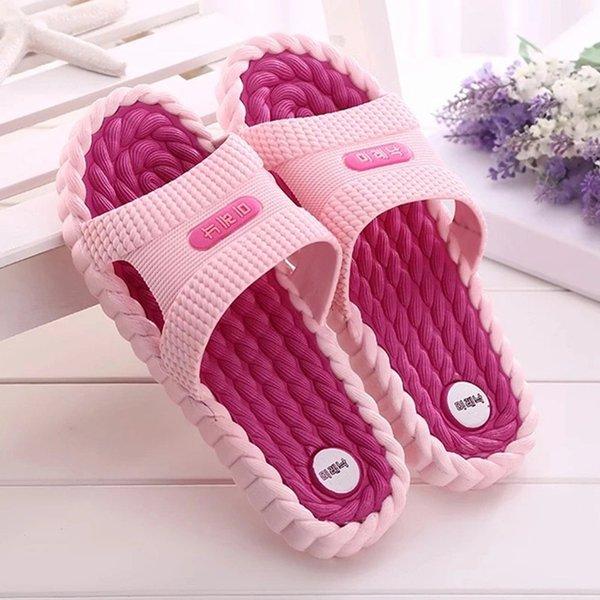 Women Summer Slippers Candy Flat Non-slip Platform Slides Men Jelly Bathroom Shoes Soft Bottom Female Fashion Slippers