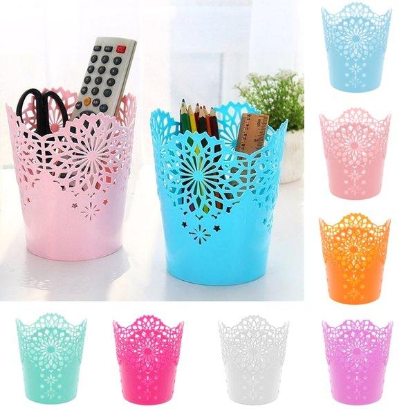 2/4Pcs Flower Plant Pot Makeup Brush Storage Boxes Pen Pencil Pot Holder Container Office Desk Makeup Brushes Storage Organizer