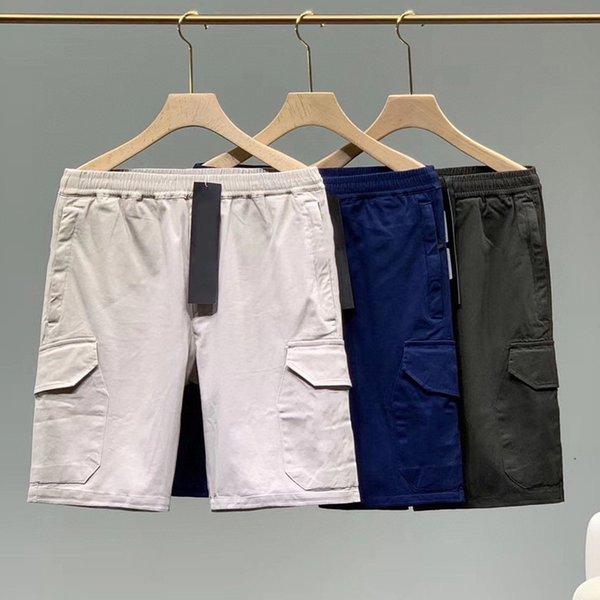 top popular Summer Mens Shorts Joggers Pants Male Designer Trousers Beige Blue Green EU Size S-XL 3 Colors #90575 2021