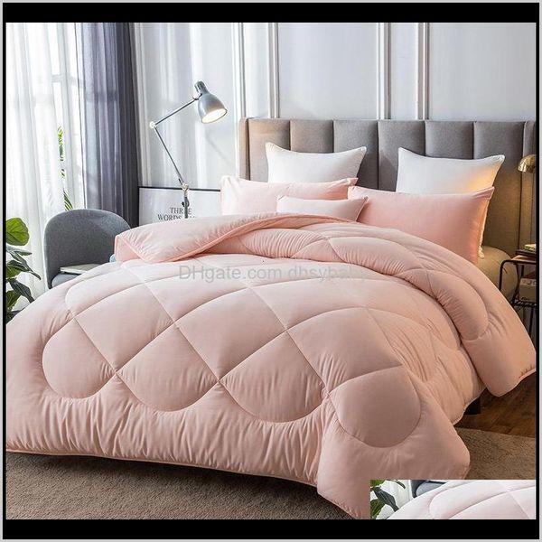top popular Duvet Cover Set Bedding El Supplies Home & Garden Drop Delivery 2021 1Pc Multicolor Optional Winter Warm Covered 100Percent Plump Fabric Matt 2021