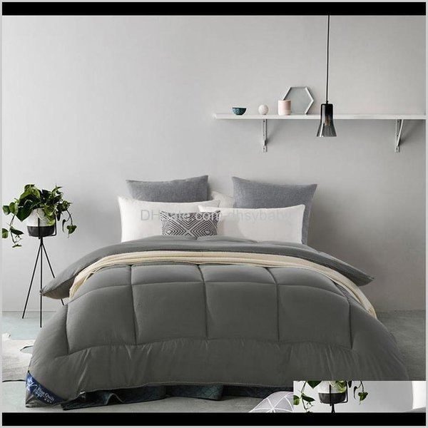 best selling Duvet Cover Set Bedding El Supplies Home & Garden Drop Delivery 2021 1Pc Luxury Fibre Warm Covered Goose Edredon Multicolor Optional Winter S