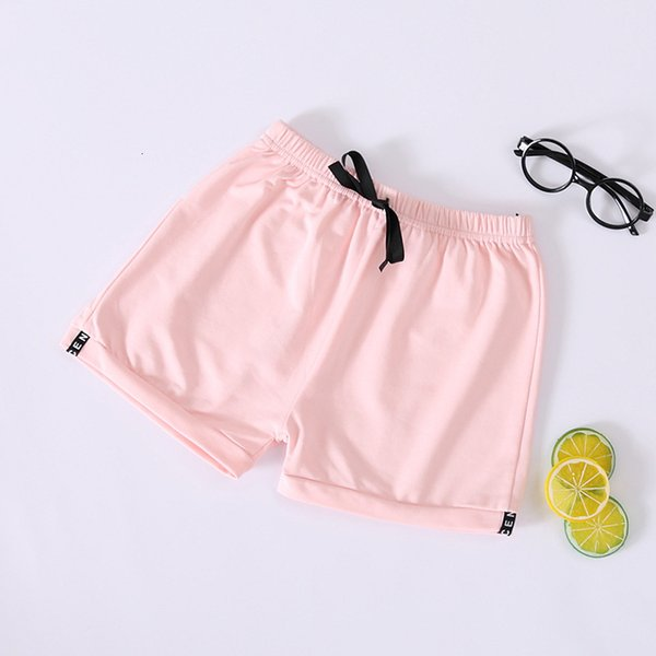 top popular Summer Fashion Children's Casual Solid Shorts Candy Color Quintuple Beach Hot Pants Cotton 2021