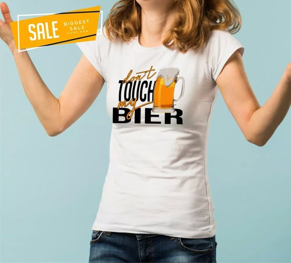SALE Beer Don 't touch Ladies T-Shirt XXL Funny DRINK DRINK Hops Alcohol