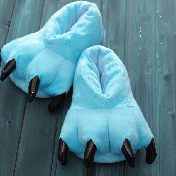 Furry Paws Slippers House Women Winter Home Soft Fluffy Slippers Female Indoor Slippers Shoes For Women 2021 Short Plush Shoes