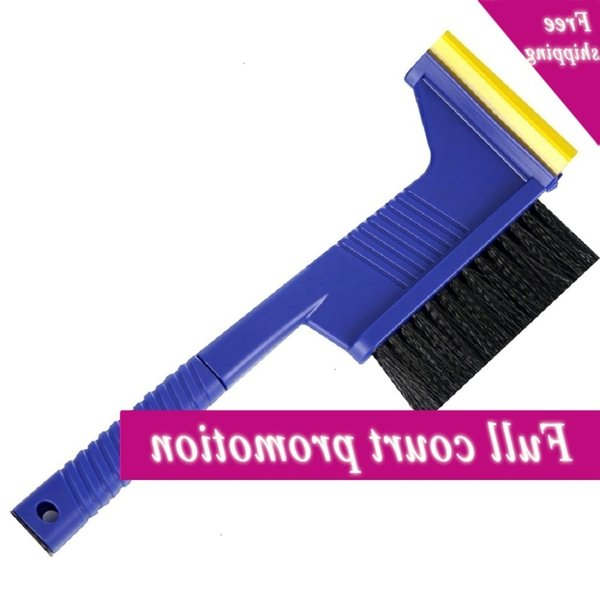 top popular 3-in-1 Multi-function Long Handle Ice Scraper Shovel Brush Winter Window Windscreen Snow Removal Car Care CCD3481 2021