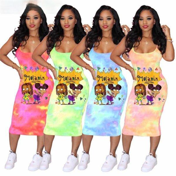 top popular Designer Summer Womens Skirt Sleeveless Piece Dress High Quality Skinny Dress Sexy Elegant Skirt 2021