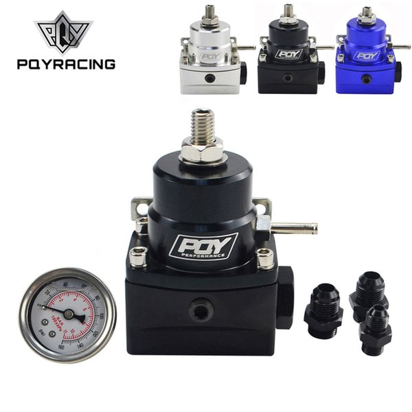 best selling Oil AN8 high fuel w  boost - 8AN 8 8 6 EFI Fuel Pressure Regulator with gauge PQY7855