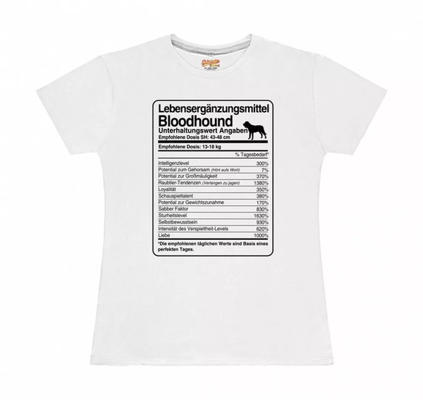 T-Shirt Womens dose Bloodhound Life Supplements by siviwonder