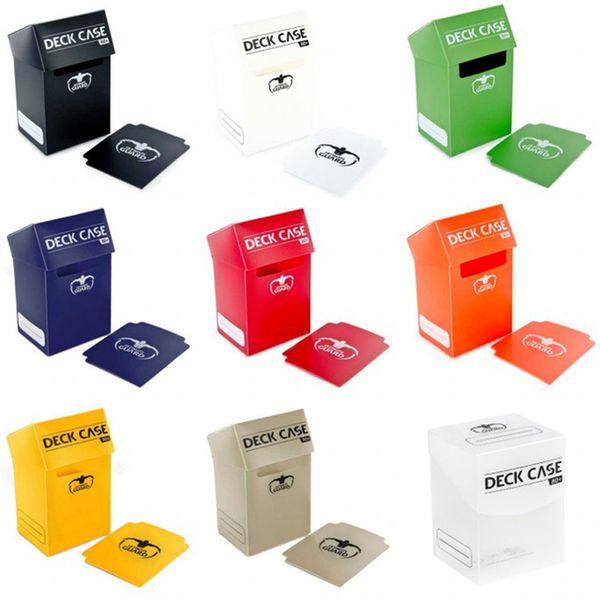 Venta al por mayor de Juegos de mesa baratos Ultimate Guard Portable 80 Deck Box Classic Color Board Games TCG Deck Funda para Magica Los Tarjetas / Pkm / Ygo / Reunión