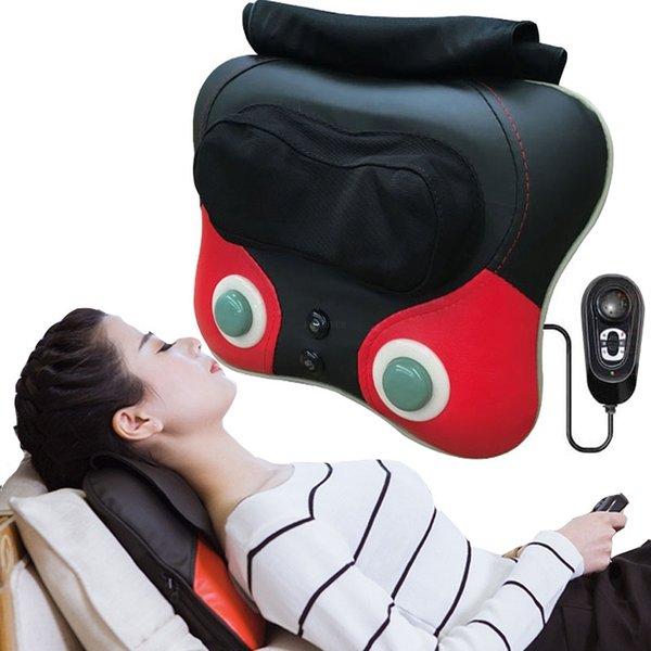 best selling Neck Massager back waist Pillow Electric Shiatsu Cervical Massager Device Household neck hip leg Body kneading Massage Cushion