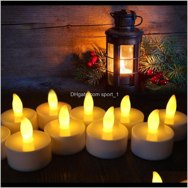 best selling Décor Home Garden Drop Delivery 2021 Led Flameless Tealight Flicker Tea Candles Light without battery For Wedding Birthday Party Christmas
