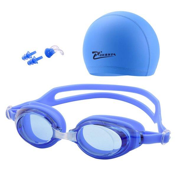 best selling Professional Swimming Cap Swim Goggles Anti-fog Silicone Swim Pool Glasses Earplug for Men Women Kids Adult Waterproof Eyewear