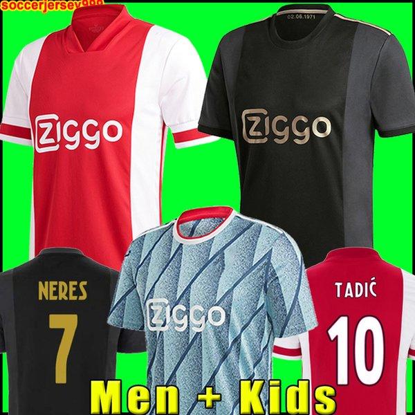best selling AJAX soccer jersey amsterdam 2021 KUDUS ANTONY BLIND PROMES TADIC NERES CRUYFF 20 21 men + kids kit football shirt uniforms third 50th 99999