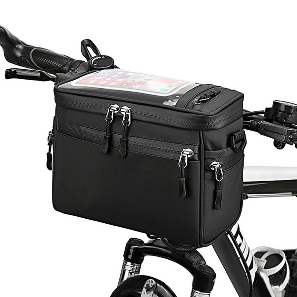 best selling Bicycle Handlebar Bag Cycling Bike Front Tube Bag Bike Pannier Shoulder Bag Carrier Pouch Cycling Front Bicycle ccessories