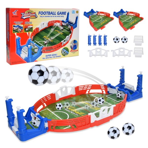 top popular Mini Table Sports Football Soccer Arcade Party Games Double Battle Interactive Toys for Children Kids Adults Board Game 2021