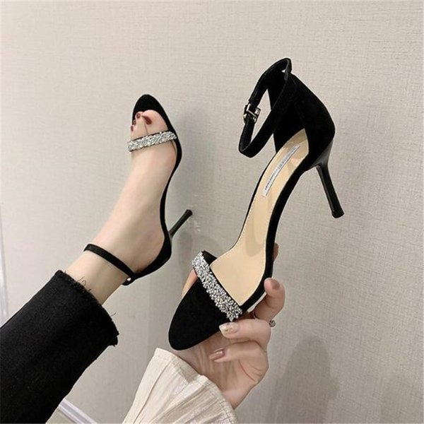 2021 New Sexy Open Toe High Heel Sandals Women Pumps Stiletto Heels Fish Mouth Shoes Woman Party Sandals Summer Ladies Sandals