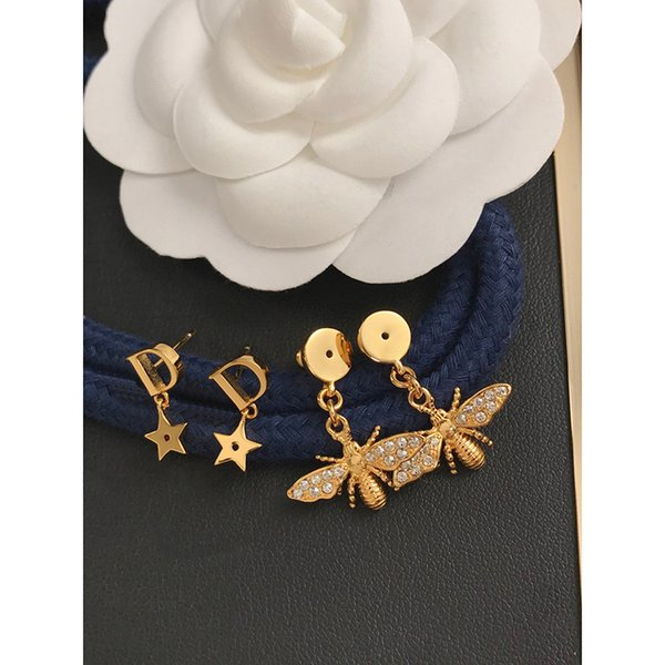 Studs Designers Earrings Fashion Jewelry 2021 Gold Stud Set Classic D Letter Brand For Women Men Pearl Wedding Party Luxurys Gift 21041902XS