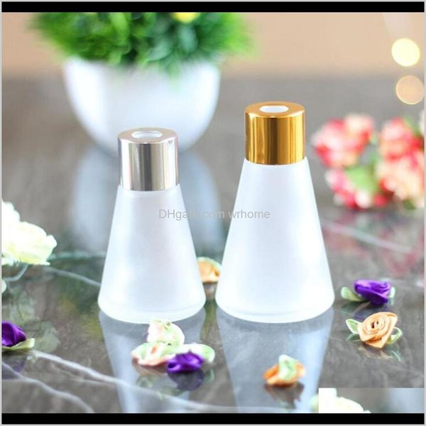 top popular Bottles Jars Aents Décor Home & Gardenconical Aromatherapy 30Ml 60Ml Scent Volatilization Glass Container Rattan Reed Diffuser Car Per Bottle 2021