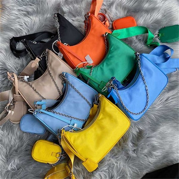 top popular 2021 fashion Re-Edition 2005 Nylon woman luxurys designers bags lady Womens crossbody tote Hobo Shoulder Purses Handbags Bag wallet backpak and box 2021