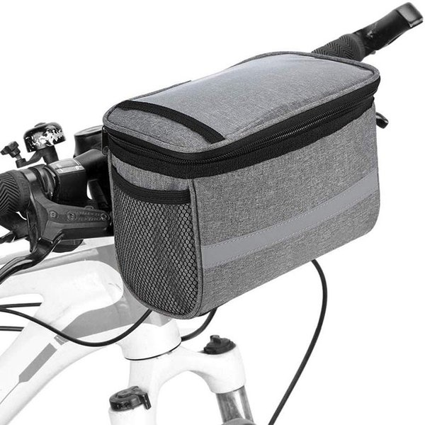 best selling Cycling Bicycle Insulated Front Bag MTB Bike Handlebar Bag Basket Pannier Cooler Bag With Reflective Strip Bike ccessories