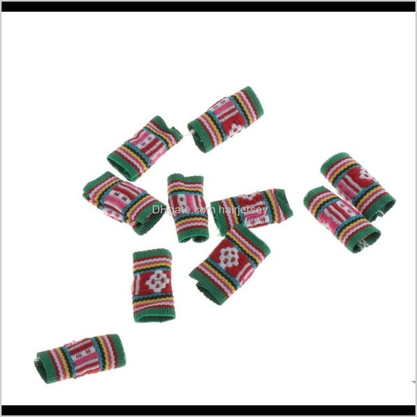 best selling Sprays Care & Styling Tools Products Drop Delivery 2021 10X Knitted Fabric Hair Dreadlock Beads Tubes For Diy Braids Pendants N2Jro