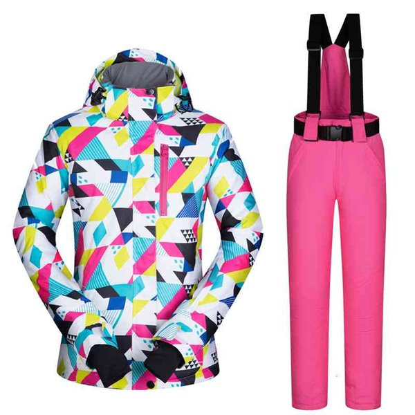 best selling Fashion Women Ski Suit Set Windproof Waterproof Warmth Snowboard Jackets and Pants Winter Snow Sports Wear Clothing