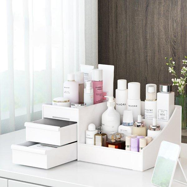 Desk Organizer For Stationary Storage Plastic Makeup Storage Box Large Capacity Drawer Sundries Organizer Office Accessories