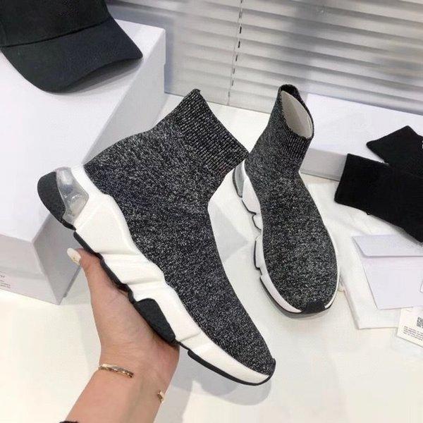 2021 designer men women Shoes speed trainer sock boots mens socks boot casual shoes runners runner sneakers