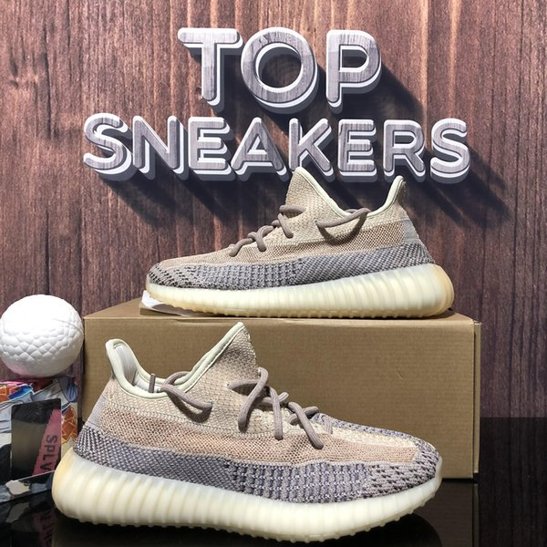top popular Top Quality Kanye West Shoes Ash Blue Pearl Cinder Sneakers Asriel Tail Light Black Static Reflective Zebra Israfil Oreo Linen Trainer 2021