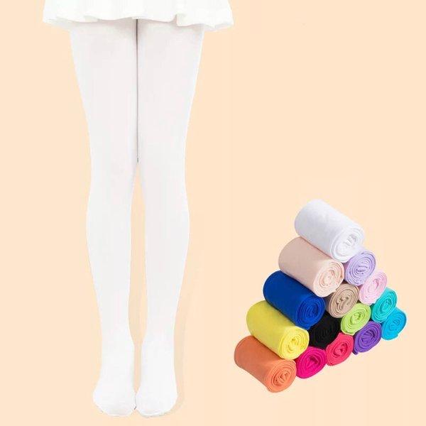 best selling Kids Pantyhose Ballet Dance Tights for Girls Stocking Children Velvet Solid White Pantyhose Girls Tights