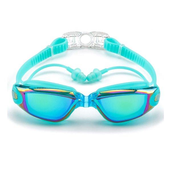 top popular Professional Swimming Glasses Men and Women Ear Plug Waterproof anti fog Adult Swimming Pool Goggles Natacion Swim Eyewear 2021