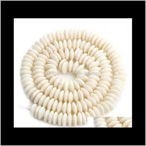 top popular Shell, Bone, Loose Jewelry1Strand 3*7Mm Natural Stone Coral Oblate Orange  White Red Spacer Beads For Necklace Bracelet Jewelry Making F3898 2021